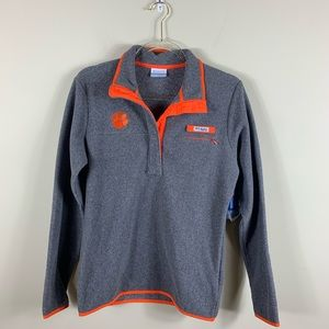 Columbia fleece Clemson tigers pullover